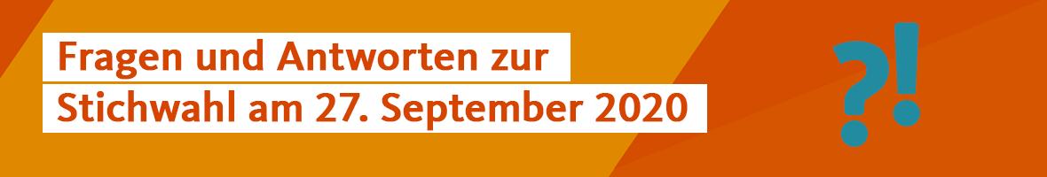 Stichwahl am 27. September 2020