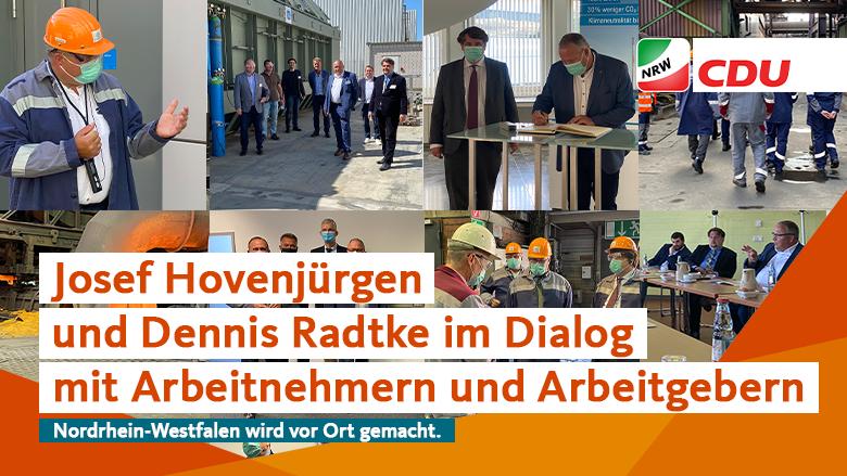 Josef Hovenjürgen und Dennis Radtke im Dialog mit Arbeitgebern und Arbeitnehmern